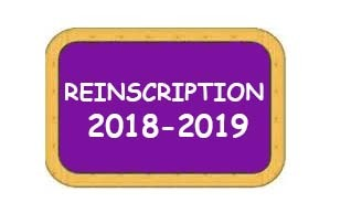 (Re)Inscription 2018-2019